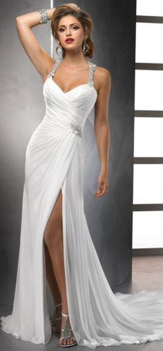 White-Chiffon-Front-Silt-Sweetheart-Casual-Style-Backless-Halter-Top-Beach-Wedding-Dresses-2014