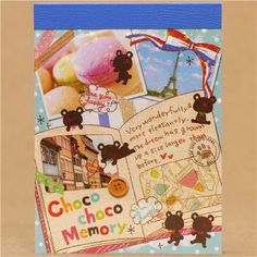mini memo pad with photoalbum and many bears from Japan
