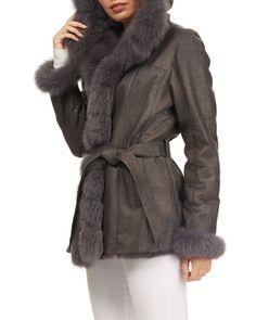 Gorski Rex Rabbit Fur with Fox Fur Trim Rabbit Fur Coat, Rex Rabbit, Parka Coat, Fox Fur, Fur Trim, Clearance Sale, Neiman Marcus, Coats, Long Sleeve