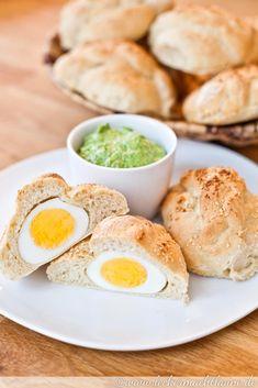 Eier-Brötchen mit Bärlauchcreme | lecker macht laune