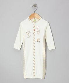 Take a look at this Ivory Sweet Dreams Bear Convertible Gown - Infant by Kushies on #zulily today!