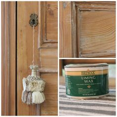 DIY -forever*cottage - how to use liming wax on pine furniture or doors for that English antique look. Painting Wooden Furniture, Rustic Furniture, Antique Furniture, Modern Furniture, Furniture Wax, Office Furniture, Steel Furniture, Furniture Stores, Outdoor Furniture