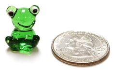 FROG (ER23186) MINIATURE GLASS ANIMAL (QUANTITY DISCOUNTS AVAILABLE!)