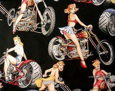 Alexander Henry Hot Wheels Pinup Girl by VintageSugarFabrics, $9.50