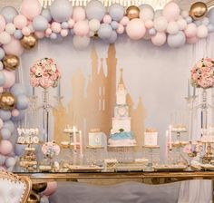 An Analysis Of Necessary Criteria In Nice Quinceanera Party Decorations - Great Party Disney Princess Birthday Party, Princess Theme Party, Baby Shower Princess, 1st Birthday Parties, Cinderella Baby Shower, Themed Parties, Birthday Crowns, Disney Themed Party, Cake Birthday