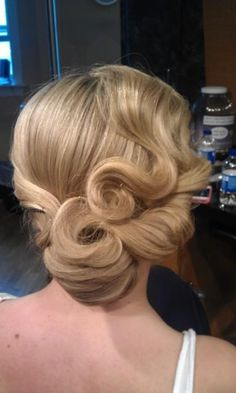 Vintage Hairstyles Updo My senior prom hair for 2013 Vintage Prom Hair, Vintage Updo, Retro Wedding Hair, Wedding Hair And Makeup, Unique Vintage, Vintage Makeup, Wedding Vintage, Wedding Updo, Wedding Nails