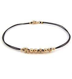 Little Leo Gold Beaded Bracelet | This beaded bubble bracelet is king of the accessory jungle. I... | Bracelets