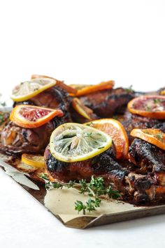 Roasted Chicken with Pom Molasses Marinade and Citrus22.jpg