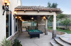 Pool table outside