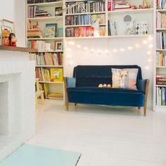 pearottosson (pearottosson) on Instagram | #stringlights #bookshelf #sofa