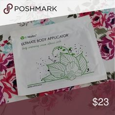 Itworks Single Wrap Itworks ultimate body applicator. Contains a botanical lotion that tighten, tones, and firm within 45 minutes!!  You can apply anywhere from the chin under!  Use on your arms, thighs, buttocks, anywhere that needs to be toned! Other