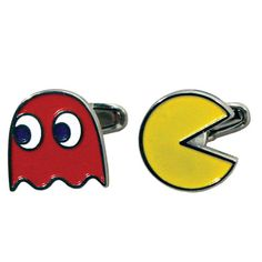 Pac-Man cufflinks to add a touch of geek to any occassion.