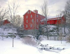 Glen Park and Cider Mill in Winter, Williamsville, New York