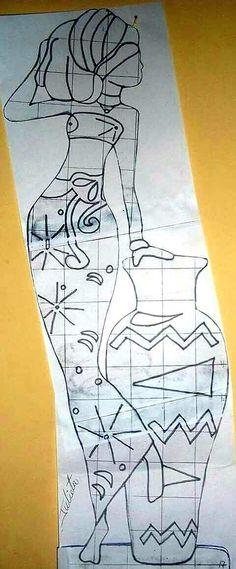 Afrique Art, African Quilts, African Art Paintings, Afro Art, African American Art, Bottle Art, Tribal Art, Fabric Painting, Mosaic Art