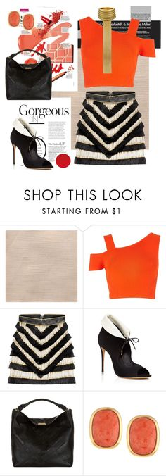 """""""Untitled #317"""" by liiiilylove ❤ liked on Polyvore featuring River Island, Balmain, Salvatore Ferragamo, Burberry and NAKAMOL"""