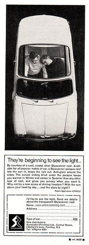 Austin Mini Skyscanner ad
