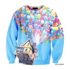 Disney UP Sweaters found on Polyvore  I MUST HAVE THIS. GET THIS FOR ME AND I WIILL LOVE YOU FOREVER!