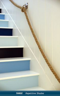 blue statement staircases 3 ways