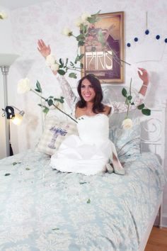 Short Wedding Dress with matching lace bolero by LoveAndMercyLtd