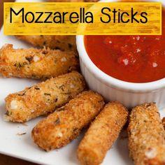 Recipe:  Appetizers - Mozzarella Sticks