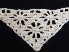 Primera parte de un lindo punto en V en Crochet