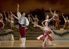 Dutch National Ballet - Jurgita Dronina and Isaac Hernandez in Ratmansky's Don Quixote. Photo: Emma Kauldhar