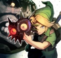 I wonder why so many people draw Link wearing the mask of Majora?