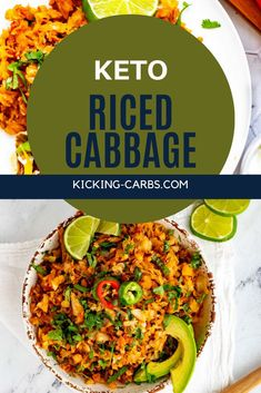 If you like cabbage as much as I do, you are going to love this delicious Keto Riced Cabbage. You will be surprised at how well this dish scratches the itch for rice without all the carbs to weight you down.  It is super-easy to make and makes a great weeknight side dish and is perfect for a low carb and gluten free diet.  #sidedish #keto #cabbagerice Low Carb Side Dishes, Side Dish Recipes, Lunch Recipes, Keto Recipes, Dinner Recipes, Healthy Recipes, Low Carb Vegetables, Veggies, Keto Cabbage Recipe
