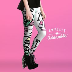 """Do you, babe. Strut your sexy self in the """"BOY BYE"""" Leggings by Awfully Adorable."""