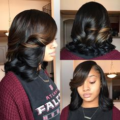 80 Bob Hairstyles To Give You All The Short Hair Inspiration - Hairstyles Trends Black Girls Hairstyles, Straight Hairstyles, Quick Weave Hairstyles, Relaxed Hair Hairstyles, Sew In Bob Hairstyles, Teenage Hairstyles, Gorgeous Hairstyles, African Hairstyles, Pressed Natural Hair