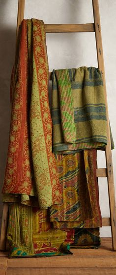 Overdyed Kantha Throw