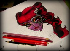 Operetta from Monster High I am drawing for my daughter :)