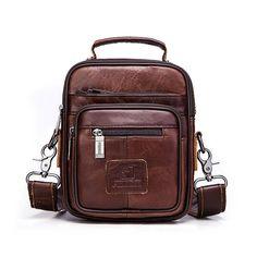 fa322741fbb6 Men Genuine Leather Bag Business Messenger Bag Crossbody Bag Handbag is worth  buying - NewChic