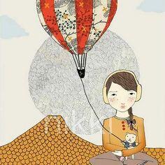 Balloon Girl print by Nikki