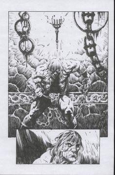 Original Comic Art titled Conan, located in Mark's Inkings Comic Art Gallery Dc Comics Art, Fun Comics, Marvel Dc Comics, Conan The Barbarian, Comic Drawing, Sword And Sorcery, Comic Panels, Comic Covers, Comic Artist