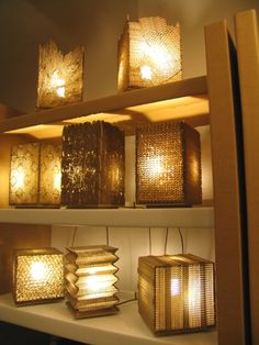 recycled cardboard lamps