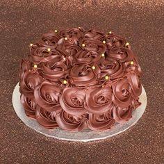 Receta tarta de rosas de chocolate | chocolate rose cake