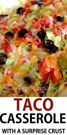 Baked burrito casserole mexican food recipes pinterest cinco this easy taco casserole will definitely dazzle your taste buds its got all of the forumfinder Gallery