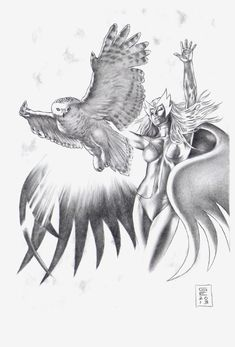 Snowbird Comic Art (Alpha Flight / Marvel)