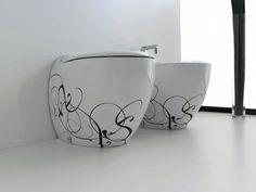 Blend, design Meneghello Paolelli Associati. #bagno #bathroom #design #decor #white #black  #sanitaryware #Artceram