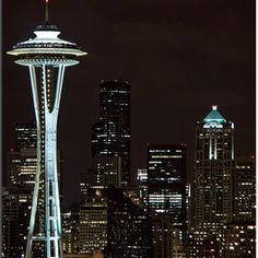 Places I would love to visit: Space Needle Tower, Seattle, Washington, United States.