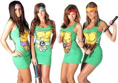 Teenage Mutant Ninja Turtles Characters Dresses