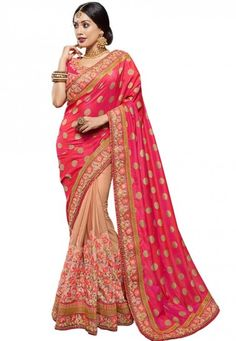 #Ravishing #Red #Beige #Saree Red And Beige Jacquard Saree designed with Zari,Resham Embroidery with Patch And Stone Work. As shown Red Raw Silk Blouse fabric is available which can be customized as per requirements. Price:4621.00 Shop at now:https://tinyurl.com/ycxzhb2r #Red #Beige #Jacquard #Saree #New #Style #Indianwedding #Different #Patten #Look #Onlineshop