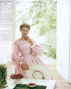 Summery pink sweetness, 1954. #dress #vintage #fashion #1950s