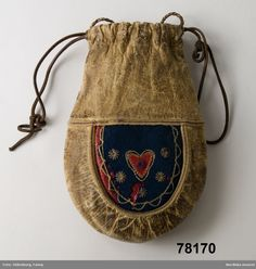 Tobakspung Gällivare, Lule Lappmark 1894 Saami Tobacco pouch, Gällivare 1894
