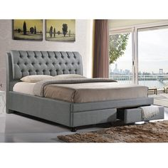 Found it at Wayfair - Baxton Studio Upholstered Storage Platform Bed