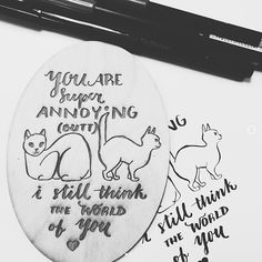 LASER ENGRAVING FTW! We think any cat friend would love to get this valentine made by @tealbrushart at our February doodle session last night!  #happyvalentinesday #ssletters #madeatcatylator #acreativedc #lettering #handlettering #dtss #silverspring
