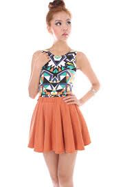 printed top with plain color, perfect!