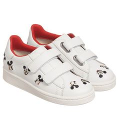 8f1c9f56aeeee5 MOA Master of Arts - White Disney Leather Trainers