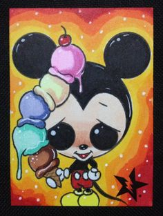 Sugar Fueled Mickey Mouse Ice Cream pop by Sugarfueledart